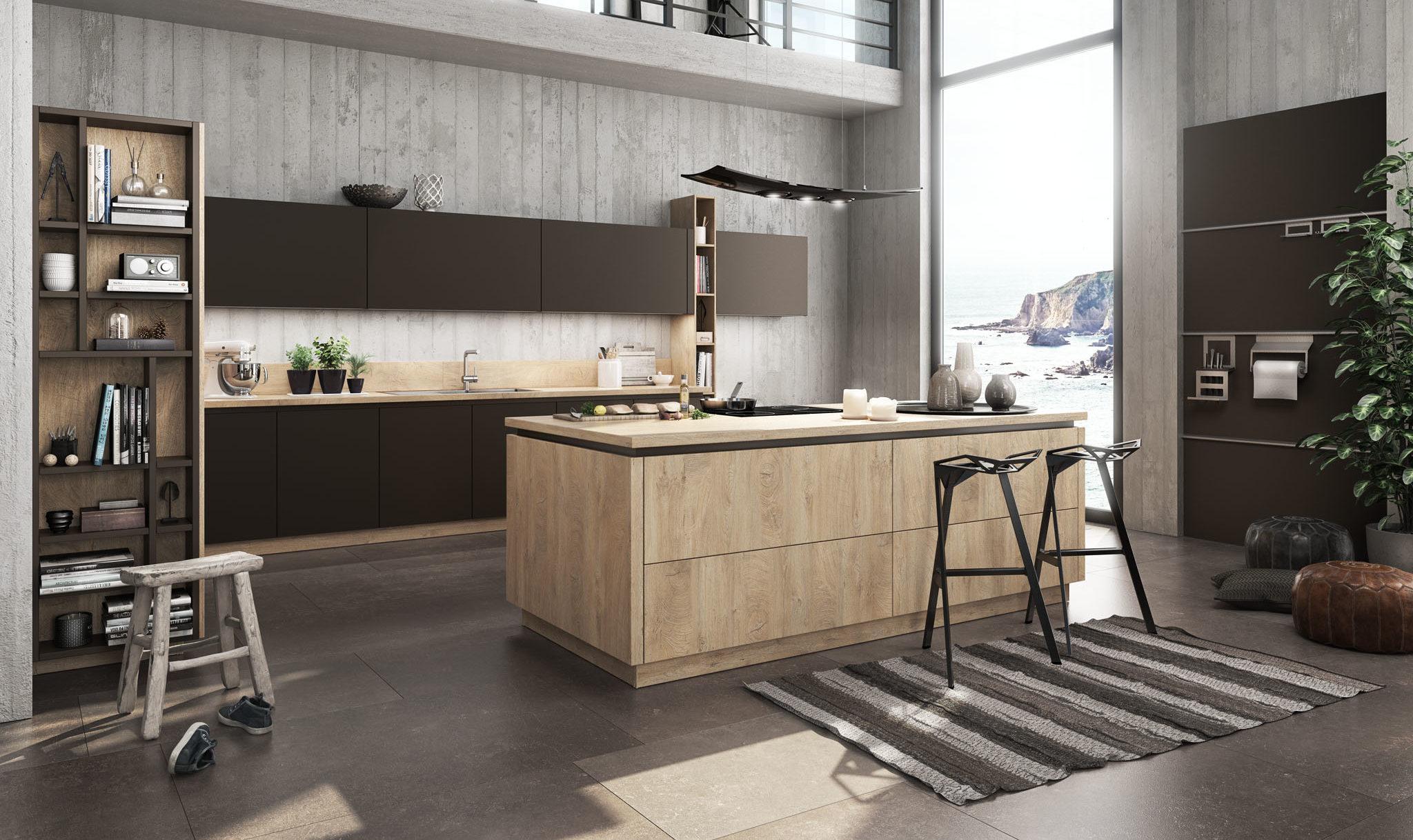 Küche braune Fronten