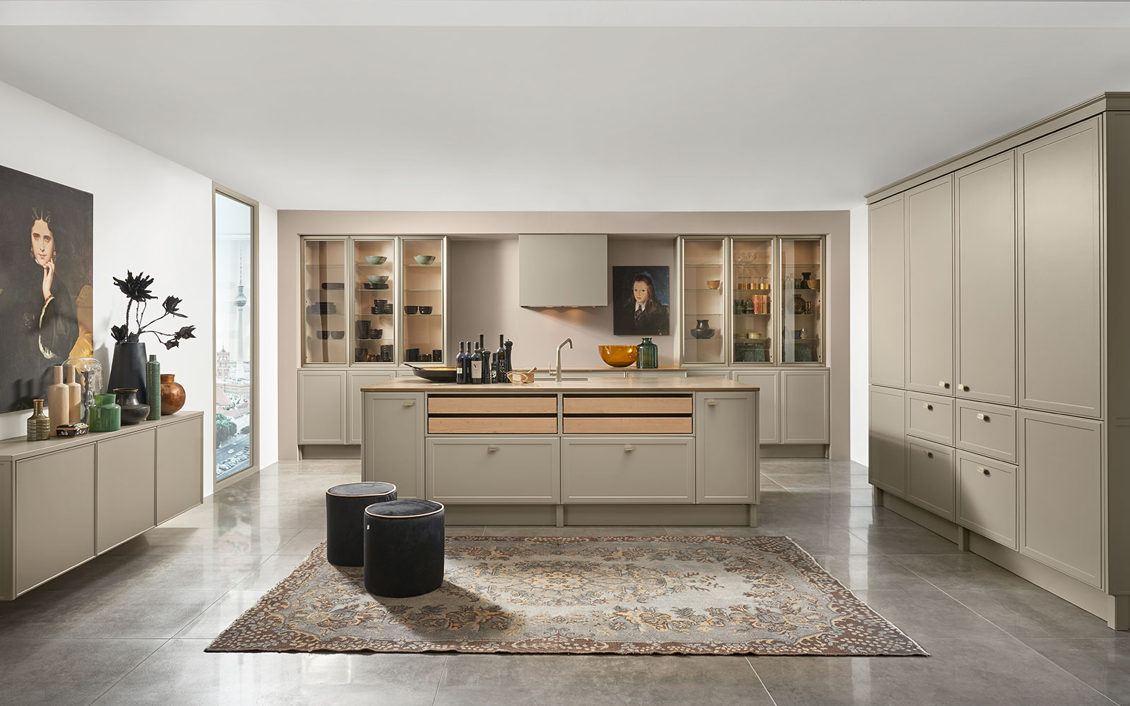 Küche grau